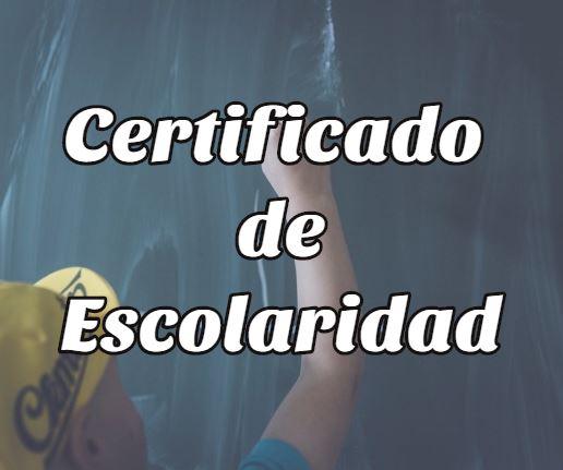 certificado escolaridad 1