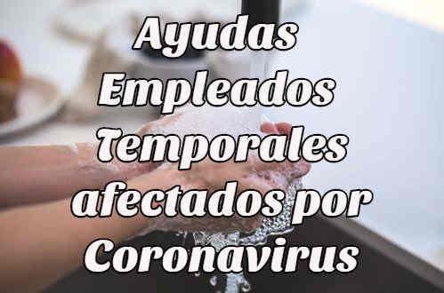 ayudas empleados temporales coronavirus